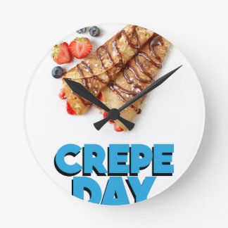 Second February - Crepe Day - Appreciation Day Round Clock