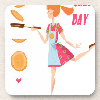 Second February - Crepe Day Beverage Coaster