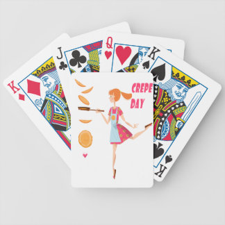Second February - Crepe Day Bicycle Playing Cards