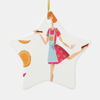 Second February - Crepe Day Ceramic Star Ornament