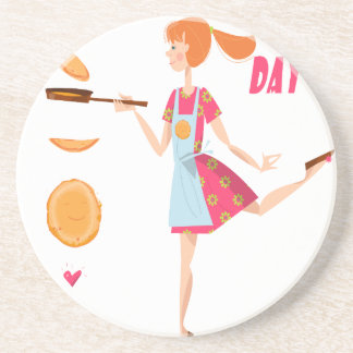 Second February - Crepe Day Coaster