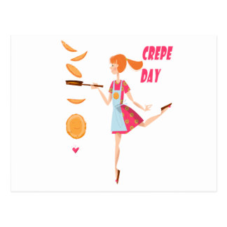Second February - Crepe Day Postcard