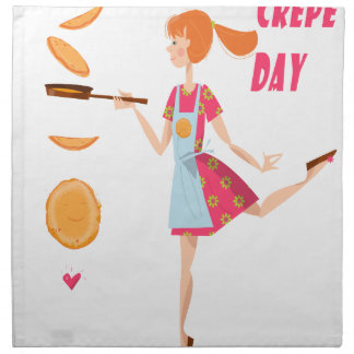 Second February - Crepe Day Printed Napkins