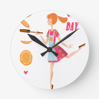 Second February - Crepe Day Round Clock