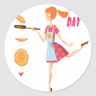 Second February - Crepe Day Round Sticker
