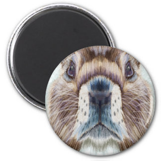 Second February - Marmot Day - Appreciation Day 2 Inch Round Magnet
