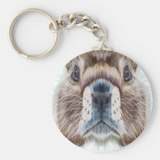 Second February - Marmot Day - Appreciation Day Basic Round Button Keychain