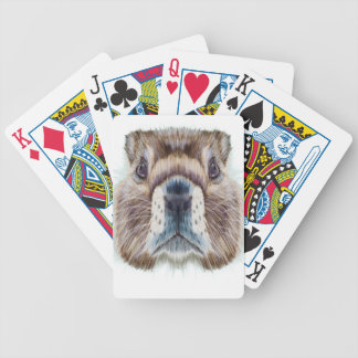Second February - Marmot Day - Appreciation Day Bicycle Playing Cards