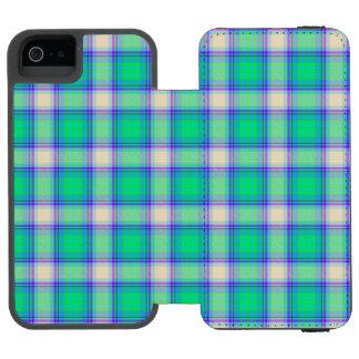 Second Fibonacci Plaid Nerdy Math Tartan Incipio Watson™ iPhone 5 Wallet Case
