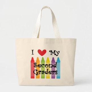 second grade teacher2 large tote bag