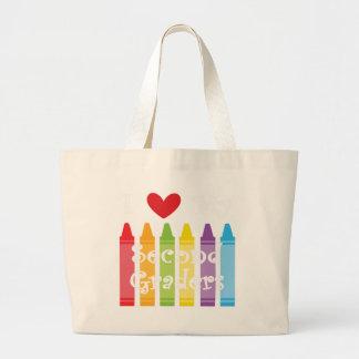 second grade teacher large tote bag