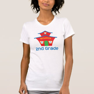 Second Grade Teacher Schoolhouse Gift T-Shirt