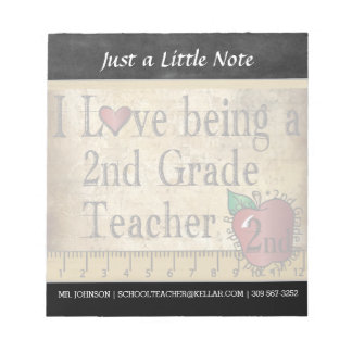 Second Grade Teacher | Vintage Style Notepad