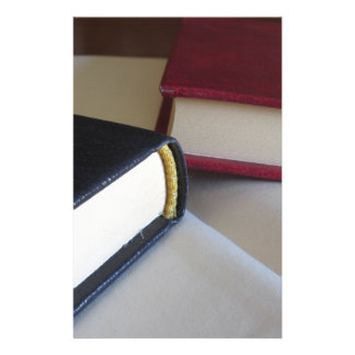 Second hand books with blank pages on a table stationery