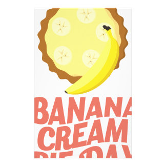 Second March - Banana Cream Pie Day Stationery