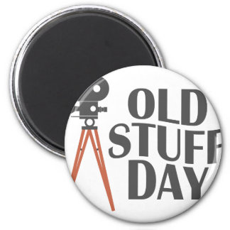 Second March - Old Stuff Day 2 Inch Round Magnet