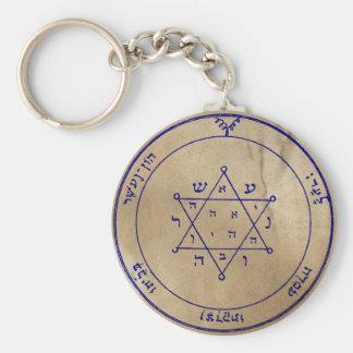 Second Pentacle of Jupiter Basic Round Button Keychain