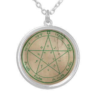 Second Pentacle of Venus Silver Plated Necklace