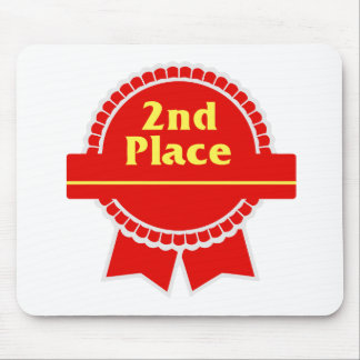 Second Place Red & Gold Ribbon Mouse Pad