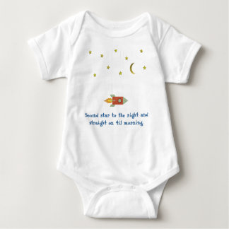 Second Star to the Right... Baby Bodysuit