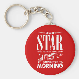 Second Star to the Right Basic Round Button Keychain