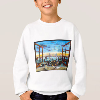 Second star to the right. Peter Pan inspired art Sweatshirt