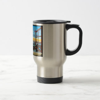Second star to the right. Peter Pan inspired art Travel Mug