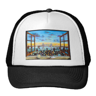 Second star to the right. Peter Pan inspired art Trucker Hat