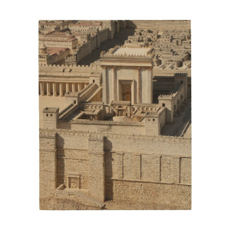 Second Temple Model, Jerusalem Wood Canvas