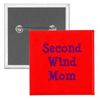 Second Wind Mom 2 Inch Square Button