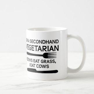 Secondhand Vegetarian Funny Mug