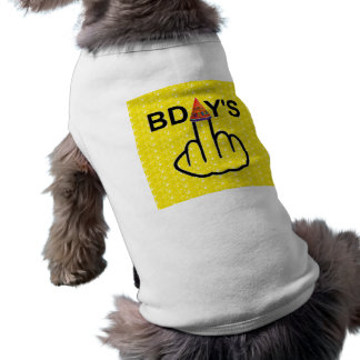 Secousse d'anniversaires d'habillement de chien tee-shirts pour toutous