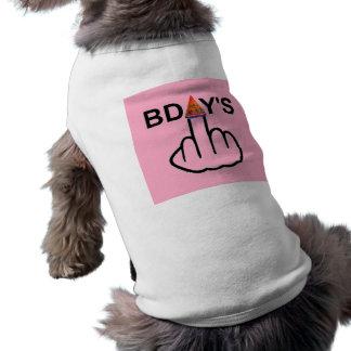Secousse d'anniversaires d'habillement de chien t-shirt pour toutou