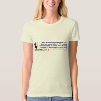 Secrecy Of The Federal Reserve System by Ron Paul T-Shirt