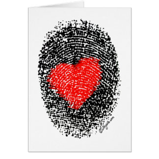 Secret Admirer Heart Fingerprint Love Card