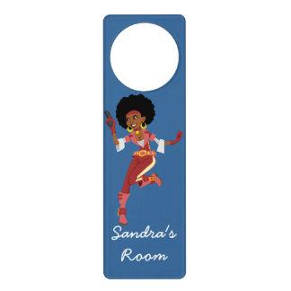 Secret Agent action figure Girl's Bedroom Door Hanger