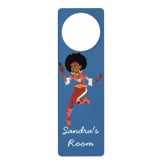 Secret Agent action figure Girl's Bedroom Door Knob Hanger