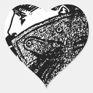 Secret Agent Heart Sticker