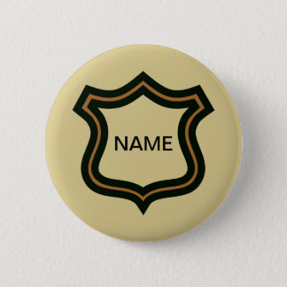 Secret Agent Name Badge,edit text 2 Inch Round Button