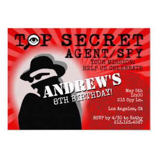 Secret Agent Spy Birthday Party Invitation