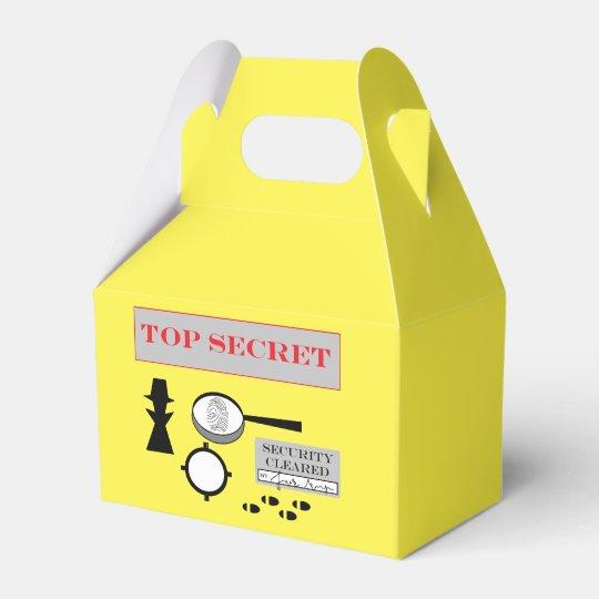 """""""Secret Agent/Spy"""" Party Favour Box Favor Boxes"""