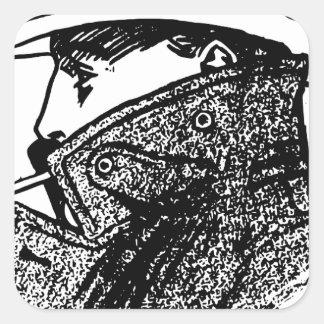 Secret Agent Square Sticker
