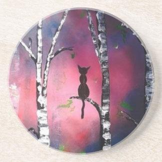Secret Birch Forest Beverage Coaster