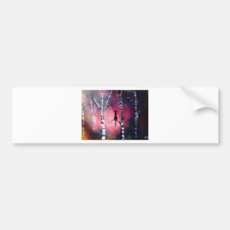 Secret Birch Forest Bumper Sticker