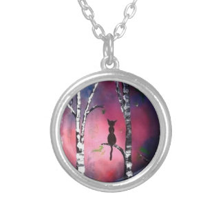 Secret Birch Forest Silver Plated Necklace