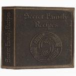 Secret Family Recipes Binders