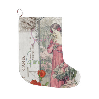 Secret Florals Victorian Large Christmas Stocking