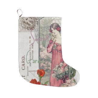 Secret Florals Victorian Large Christmas Stocking