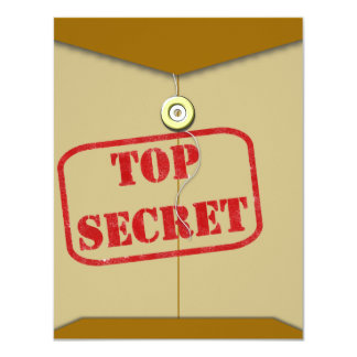 """Secret Folder for Secret Cooks 4.25"""" X 5.5"""" Invitation Card"""