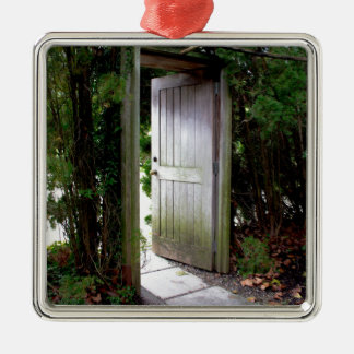 Secret Garden 1 Silver-Colored Square Ornament